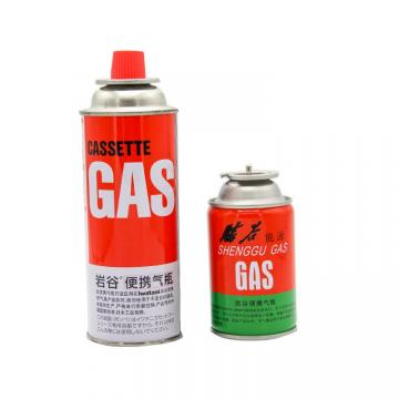 Portable cooking gas stove refined butane fuel cylinder