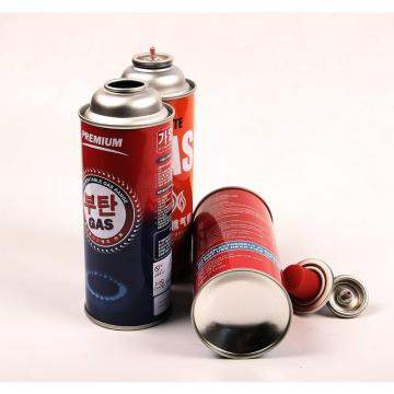 NOZZLE VALVE TYPE 227g Round Shape Portable butane gas cartridge and butane gas canister