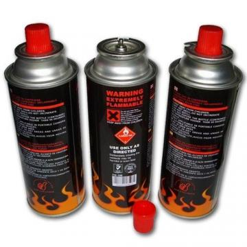 Safety Flame Control empty 220gr butane gas cartridge and camping gas butane canister refill